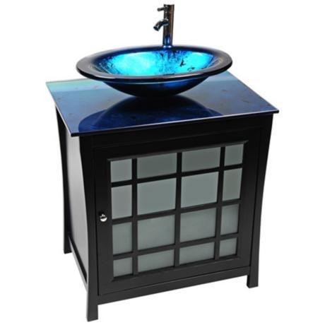 11 best Glass Bathroom Vanities images on Pinterest | Glass bathroom ...
