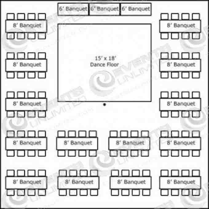 Banquet Table Sizes and Seating | Banquet Table