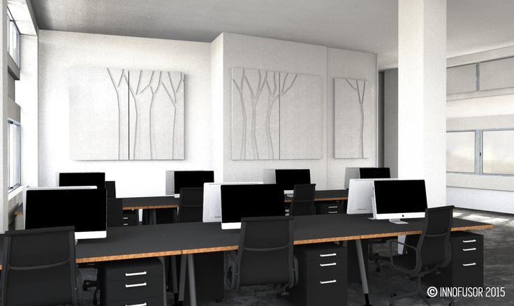 Silent Trees visualization 2015, color snow. #Scandinavian #Design #Innofusor #acoustics