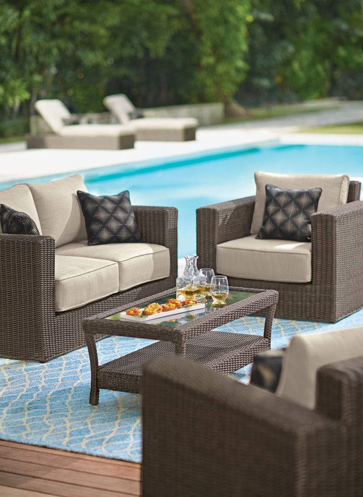 Our Naples 4 Piece Outdoor Deep Seating Set Helps You Create An Inviting  Living Area Part 63