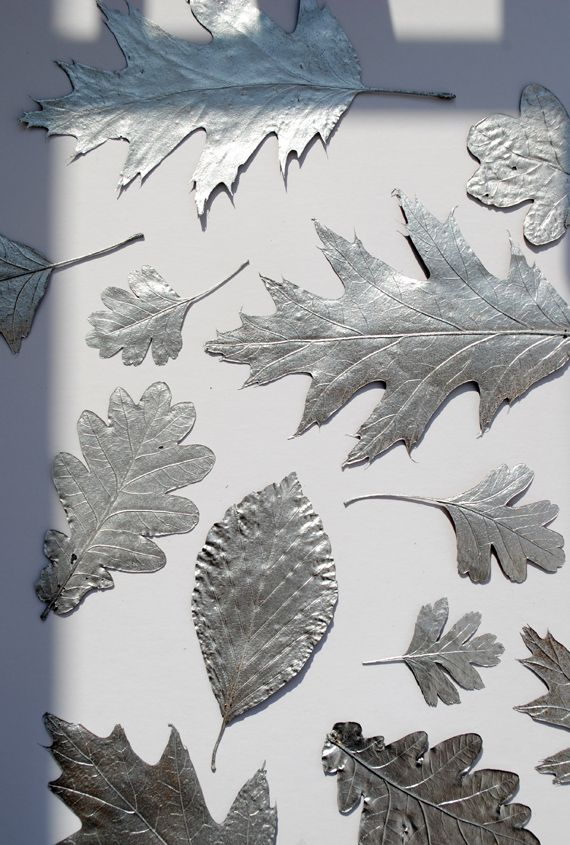 Silver Leaves // Christmas decorations