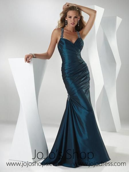 b1848373e906a Blue Teal Strapless Graduation Prom Formal Dress HB2014C in 2019 ...