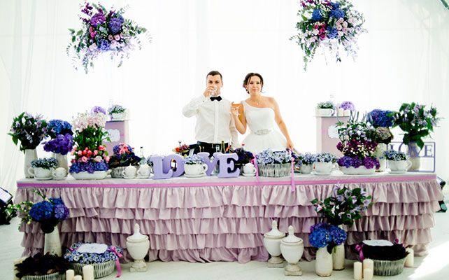 Александр и Камилла: классическая свадьба в фиолетовом цвете