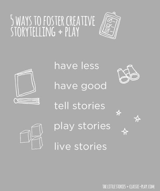 5 ways to encourage creative storytelling + play