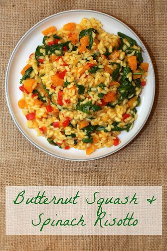 Butternut Squash and Spinach Risotto by Rachel Cotterill