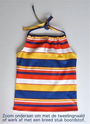 handlieding voor het naaien van deze topjes