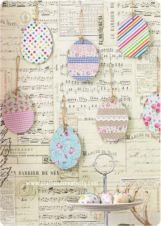 Dekorerade äggetiketter – Decorated egg tags - Craft & Creativity