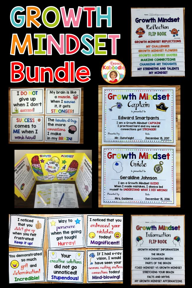 Are you teaching your students about growth mindset?  This Growth Mindset BUNDLE includes affirmation posters, flip books (reflection book and informational book), a growth mindset privacy folder template, awards, bookmarks, as well as growth mindset teacher notes.  These no prep printable activities are easy to use and fun for students!
