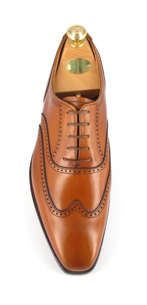 Crockett and Jones Drummond full brogue oxfords finished in Tan Burnished Calf