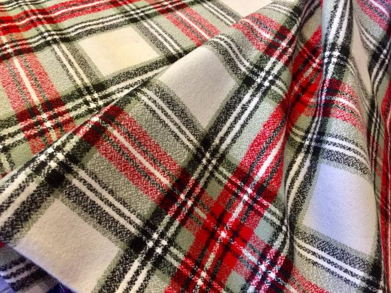 Country Mammoth Flannel Fabric Plaid Flannel  by AACottonCreations