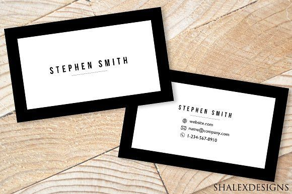 Minimal Business Card Template PSD by ShalexDesigns on Creative Market – #Busine…