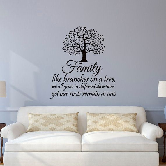 family wall decal quotes family like branches on a tree quote wall decals murals vinyl lettering wall art home decor q116