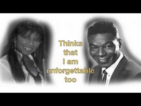 Nate King Cole and Natalie Cole Unforgettable Lyrics (ugh...yeah unforgettable...good song, bad memories)