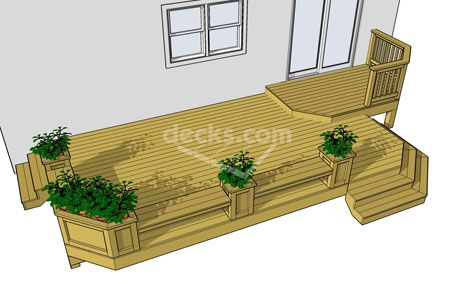 Deck With Built In Benches And Planters Patio Deck And