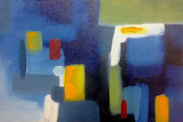 BLUE CITY FUNK by Mel Sebastian Abstract Art for Sale - ART101 Art Gallery & Framing