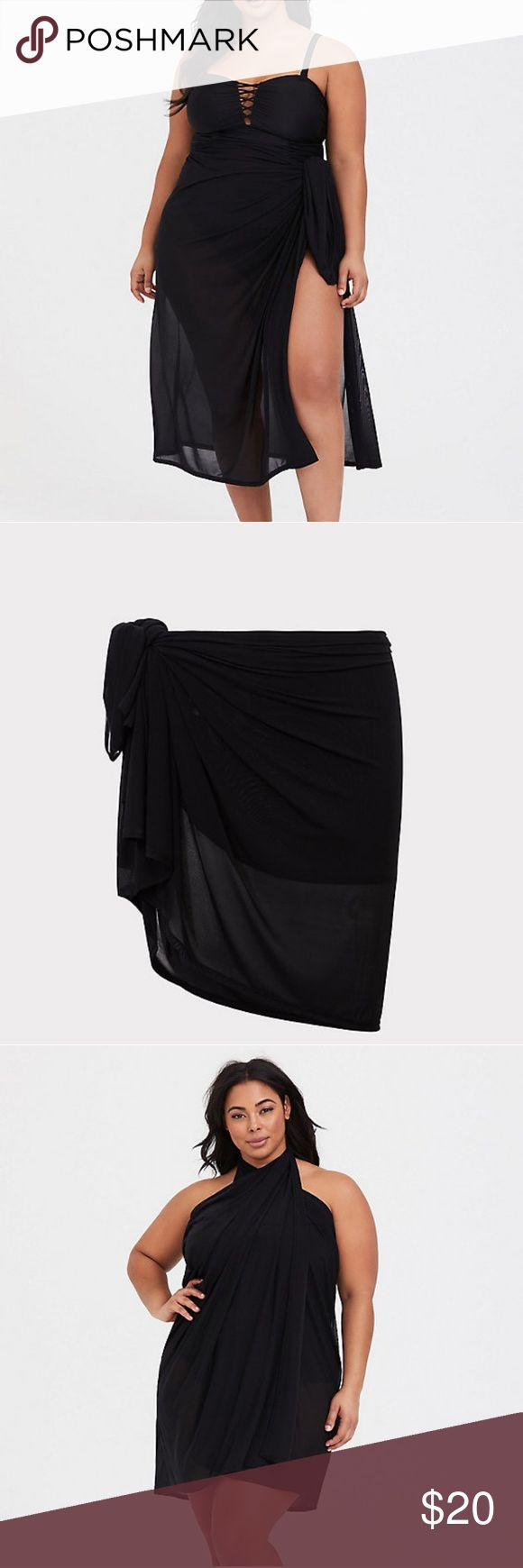torrid   Black Mesh Stretchy Sarong *OSFA* A slinky yet airy mesh sarong becomes…