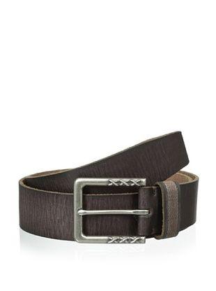 48% OFF John Varvatos Men's Harness Buckle Leather Belt (Brown)