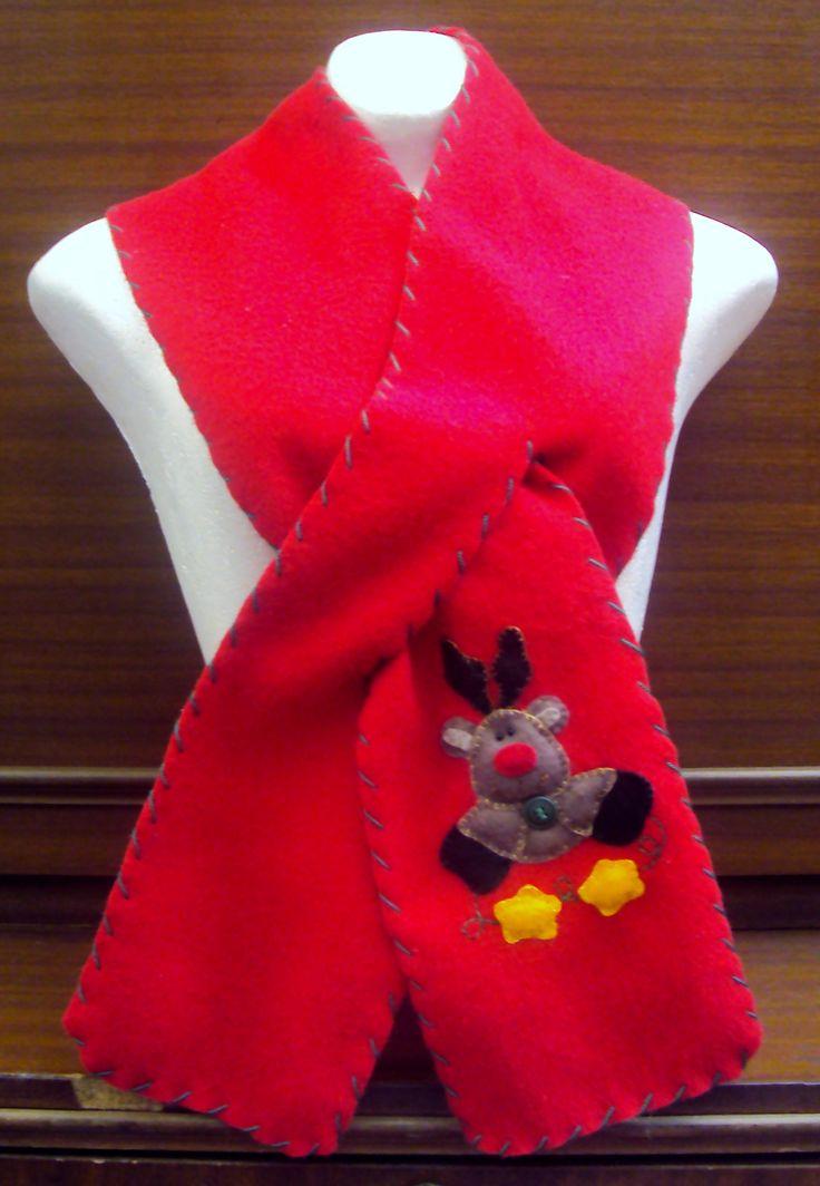 $25.000 COP Bufanda navideña hecha en fleese para niños y adultos