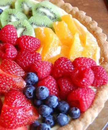 Ina Garten Fresh Fruit Tart Dessert Recipe- One of my favorite desserts that you can add any fresh fruit on. It is so pretty and even more delicious | Rainbow Delicious