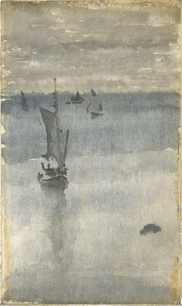 James Abbott McNeill Whistler,  Sailboats in Blue Water