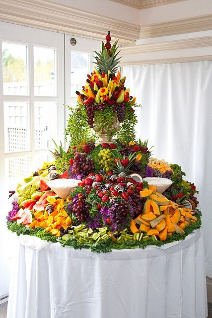Cascading Fruit Display FAVORITE I'm crying, it's so beautiful (I'm not really crying) (sniffle).