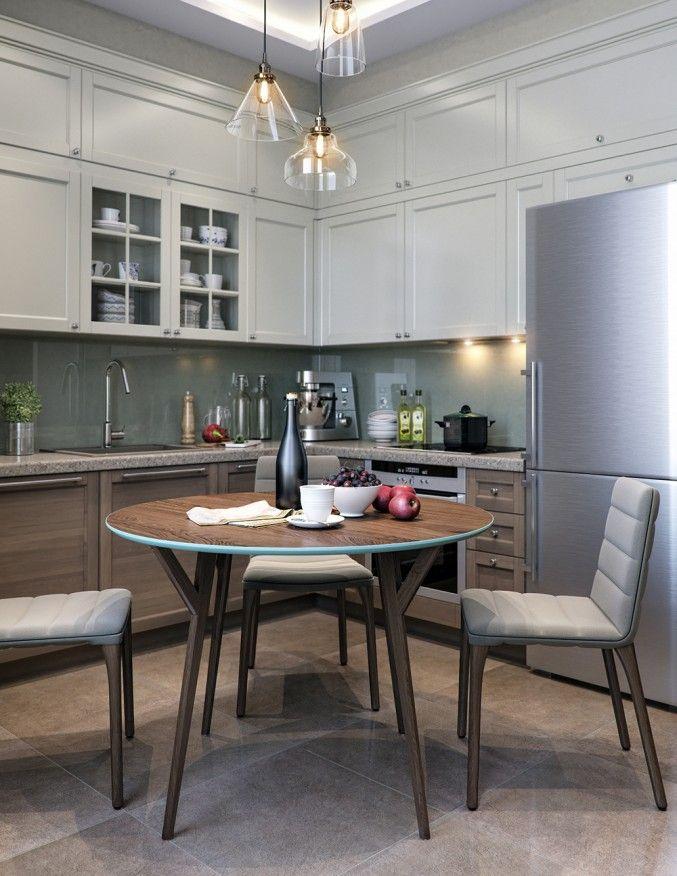Кухня, Интерьер в стиле фьюжн, кухня, просмотров 211