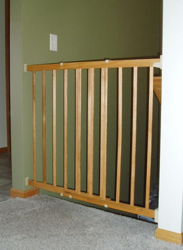 Wooden baby gates for stairs with banisters 28 images for Wooden stair gate ikea