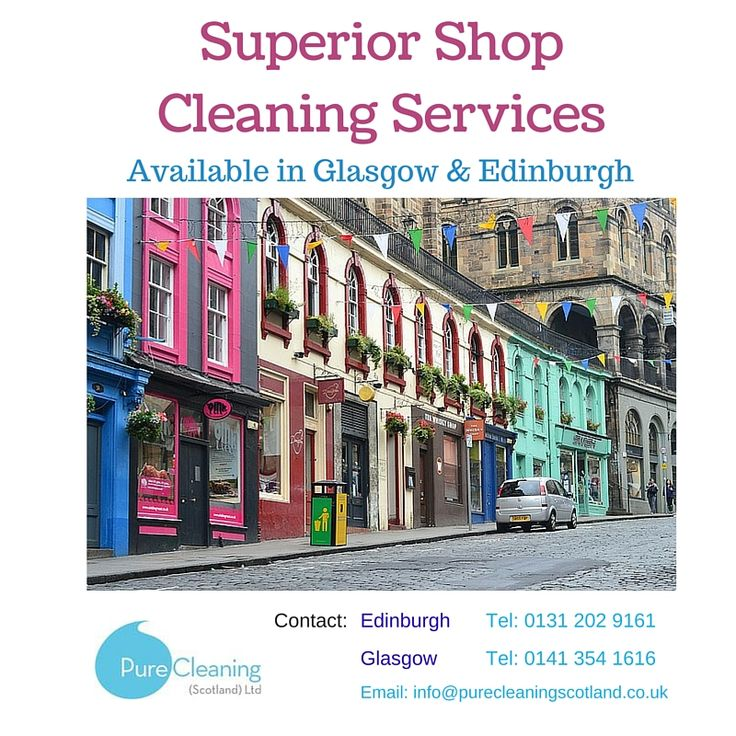 Pure Cleaning offers superior shop cleaning services.  We can clean your premises on a regular basis or deep clean on an ad hoc basis.  Our contracts can include window and /or carpet cleaning.