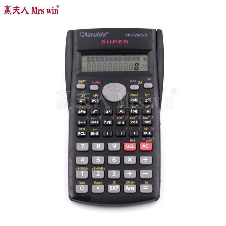 1pcs Hot Handheld Multi-function 2 Line Display Scientific Calculator 82MS-B Portable Multifunctional Calculator for Mathematics
