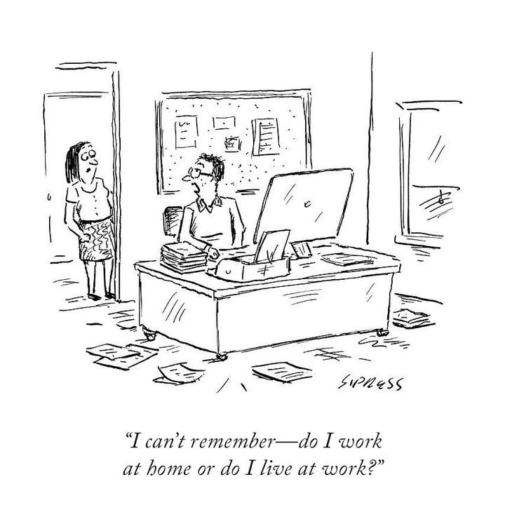 23 8k Likes 159 Comments The New Yorker Newyorkermag On Instagram Which One Is It Newyorkerc Working From Home Meme Work Cartoons New Yorker Cartoons