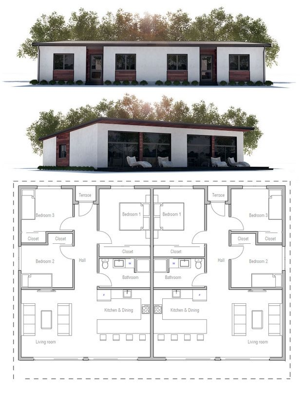 17 best ideas about duplex house on pinterest duplex house plans modern house plans and for Plan de maison en duplex