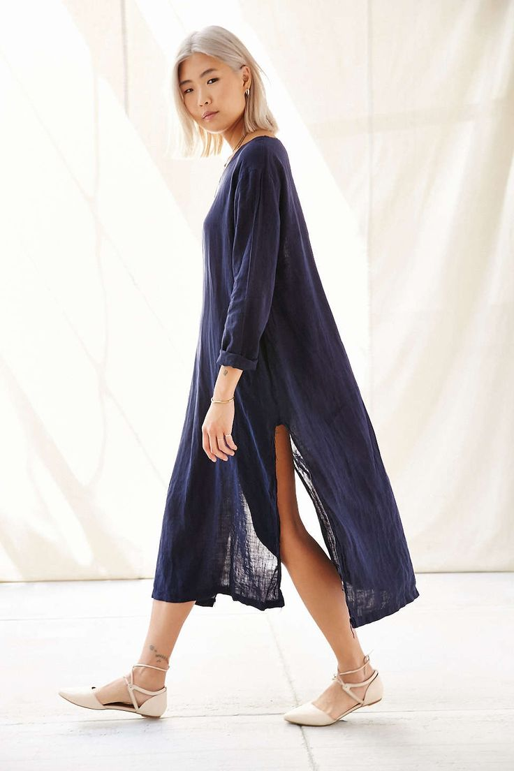 Urban Renewal Long Sleeved Tunic Dress - Urban Outfitters