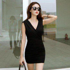 SEXY DRESS - 4836BLACK | Baju Korea, Baju Import, Grosir Baju Korea, Grosir Baju Import