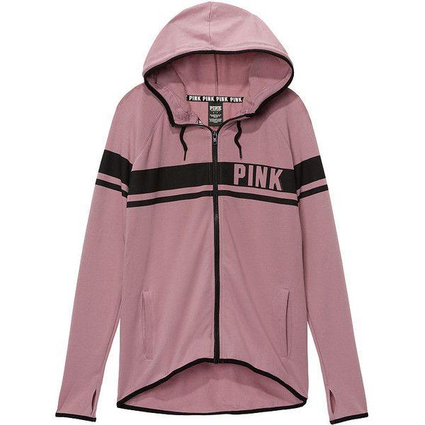 Hoodies and Sweatshirts - PINK ($60) ❤ liked on Polyvore featuring tops, hoodies, sweatshirts, crew-neck sweatshirts, purple hooded sweatshirt, hooded sweatshirt, victoria secret sweatshirt and pink hoodie sweatshirt