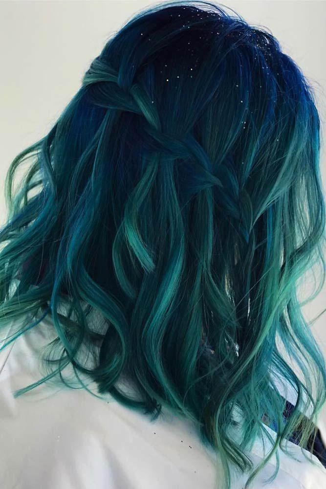 Hair Color 2017 2018 Midnight Teal Tealhair Brunette Balayage