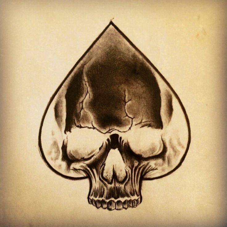 Skull Ace of Spades Tattoo by Junkiz_art