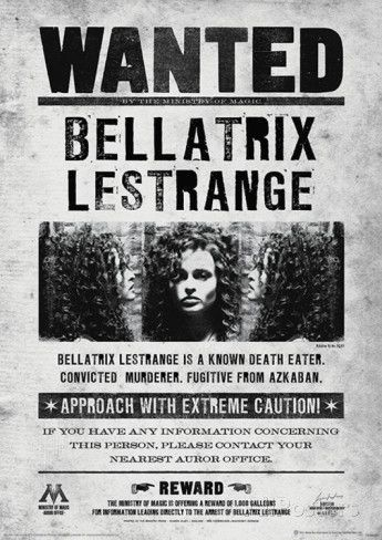 Harry Potter (Bellatrix Wanted) Movie Poster Impressão de alta qualidade na AllPosters.com.br