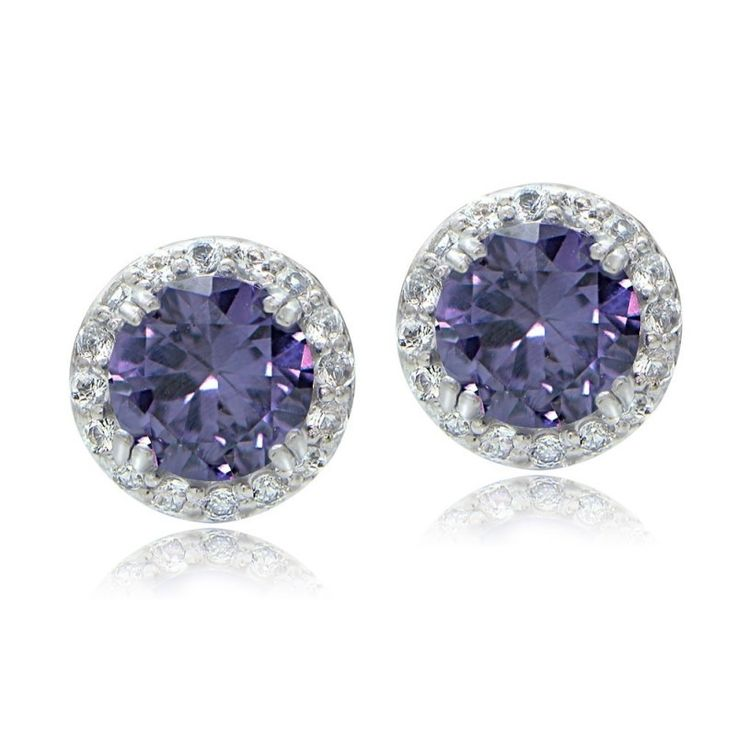 grande earrings matte page collections perspective gold alexandrite princess style fine in winter black stud platinum jewelry cut