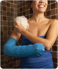 how to take a shower with a splint