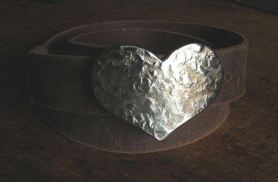 HEART Belt Buckle Hand Forged Hypoallergenic by ironartcanada  https://www.etsy.com/ca/listing/210881207/heart-belt-buckle-hand-forged