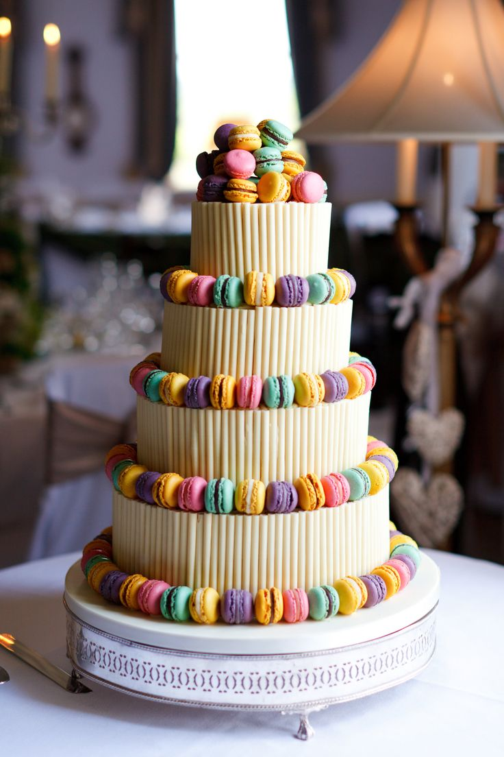 Fun and colourful creative wedding cake idea for your special day at Chilston Park, Kent