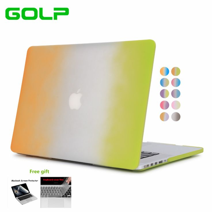 """GOLP hot sales Rainbow Like Two Color Gradient super hard cover protector Laptop Case For Macbook Pro 13"""" Retina #Affiliate"""