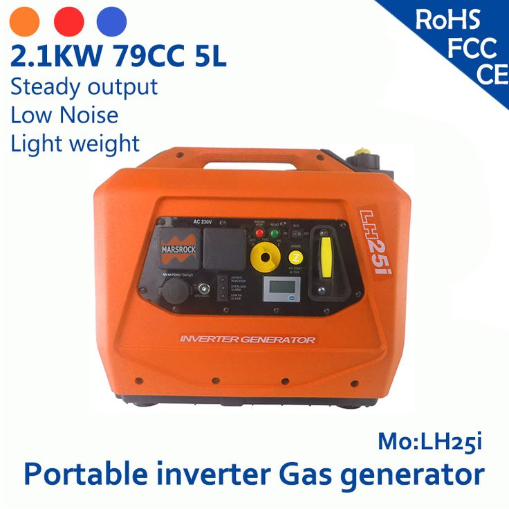 2.4KW 79cc 5L 120V or 230V LCD screen simple operation feul gauge USB port or Cig socket small portable inverter gas generator #Affiliate