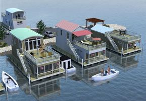 Tiny Floating Homes