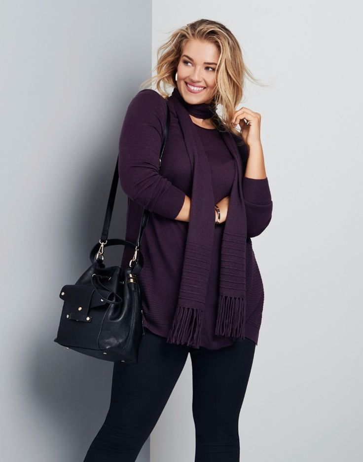 CASHMILLON TUNIC WITH SCARF