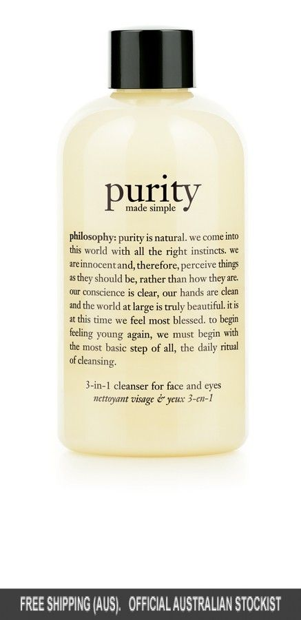 philosophy purity made simple 3-in-1 cleanser for face and eyes 240ml - 240ml #adorebeautydreamhaul