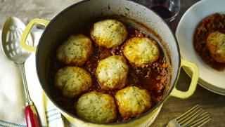 Mince and dumplings (use  paleo dumpling recipe)