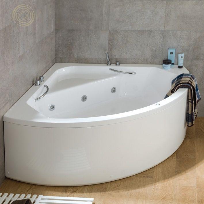 Сантехника Ecolite Ванна 140х140 см в комплекте с ножками и сифоном