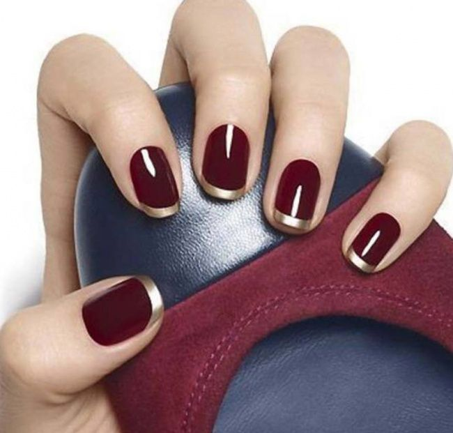 15 astonishingly beautiful ideas for your next manicure: Like the wine/gold for the holidays!