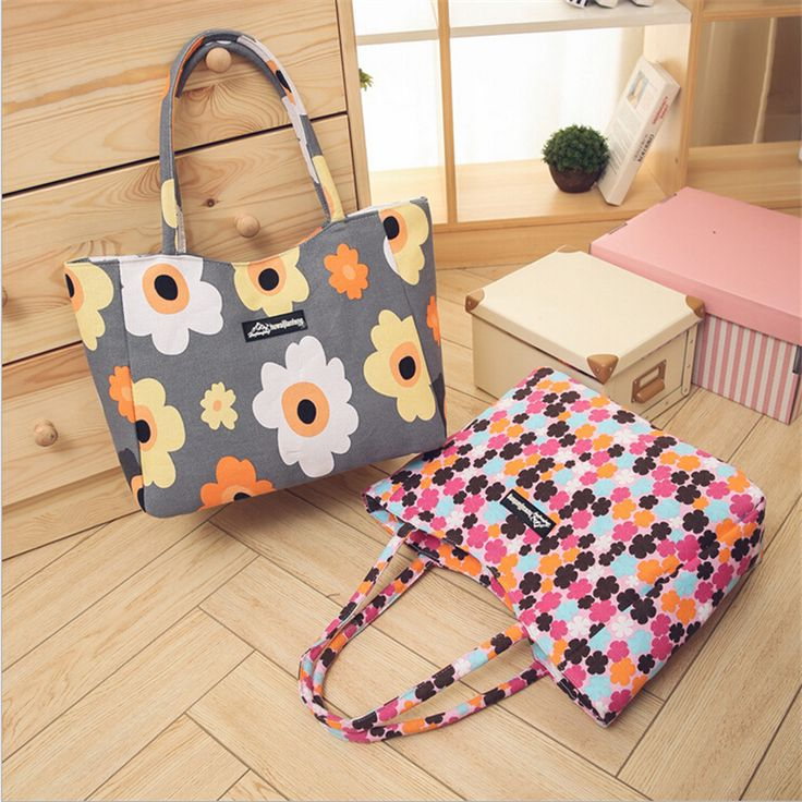 Waterproof Canvas Casual Zipper Shopping Bag Large Tote Women Handbags Floral Printed Ladies Single Shoulder Beach Bag //Price: $15.40 & FREE Shipping //     #womenfashion